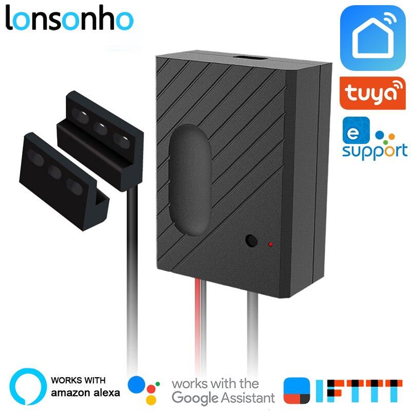 Lonsonho ouvre-porte de Garage intelligent Wifi commutateur relais télécommande fonctionne avec Alexa Google Home IFTTT Tuya vie intelligente eWeLink