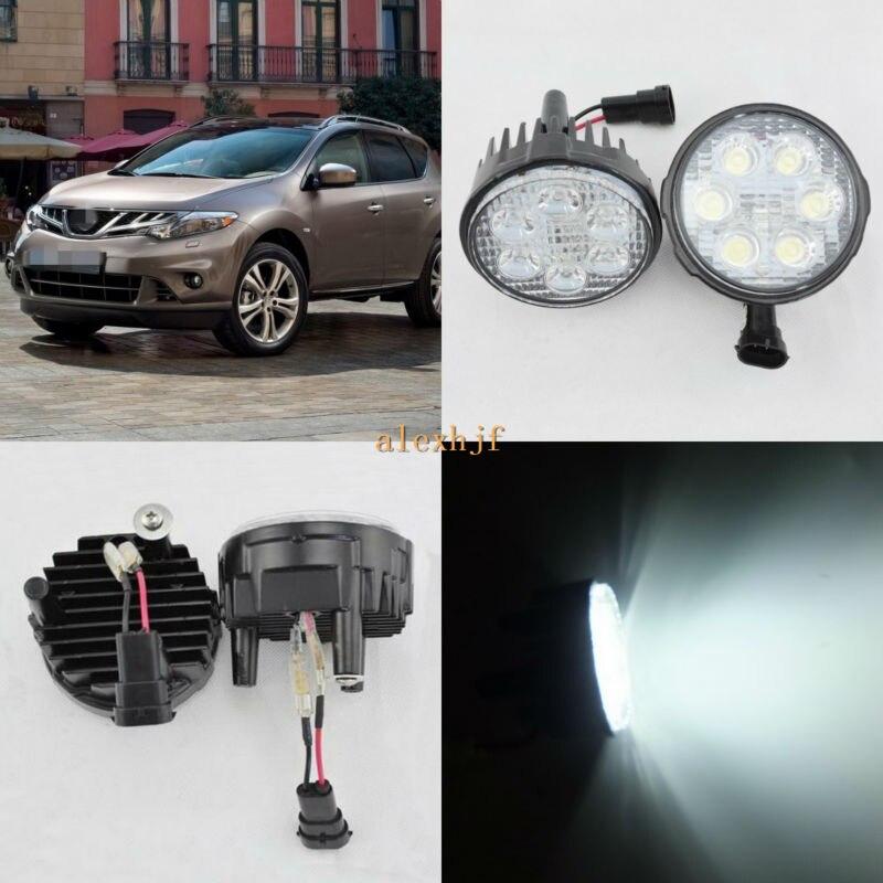 July King 18 W 6 Led H11 LED Brouillard Assemblage De La Lampe pour Nissan Murano 2008 ~ 2014, 6500 K 1260LM LED Feux de jour