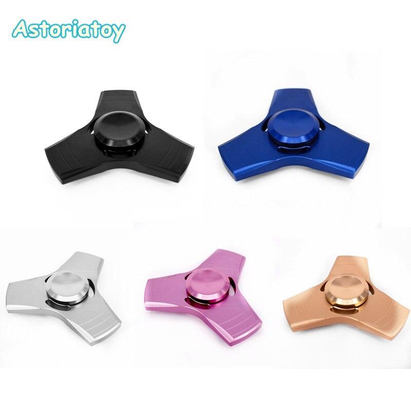 5 Colour EDC Handspinner Toy Tangular Hand Spinner Aluminum /copper Material Professional Finger Gyro For Autism
