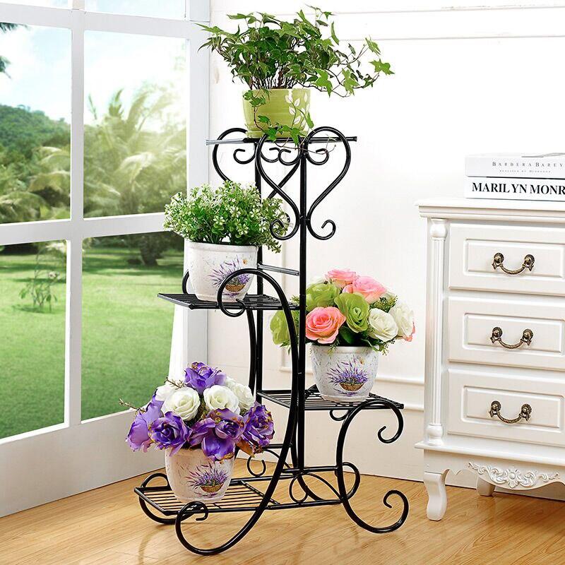 hierro forjado flor de mltiples capas de suelo del balcn jardinera escalera interior de sala de estar otros vistosa en maceteros y jarrones