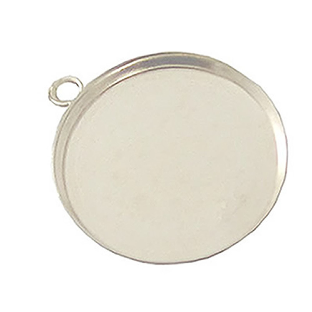 Beadsnice Round Pendant Blank Bezel Setting With Hoop Cabochons Setting Base for Accessories And Jewelry in Jewelry Findings Components from Jewelry Accessories