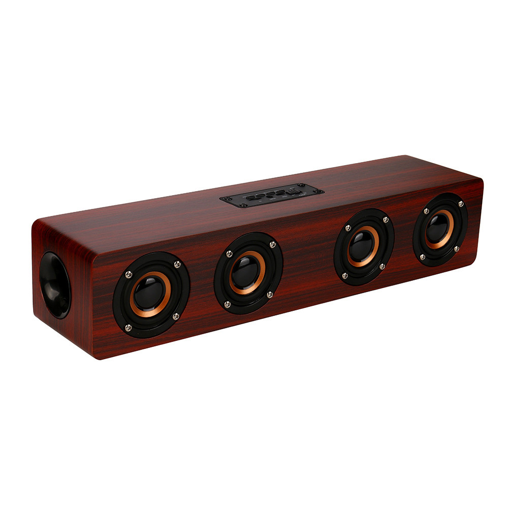 Free Shipping High Quality Wireless Bluetooth Speaker Super Bass Stereo Speaker Retro Wood Speaker For iPhone Smartphones #ES