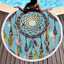 Bohemian Round Beach Blanket With Tassels