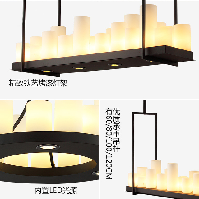 LED Nordic living room illumination restaurant suspended lamp Industrial retro fixtures loft hanging lighting Bar pendant lights