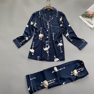 Image 2 - Letnie kobiety koszula spodnie piżamy zestawy bielizna nocna pani odzież domowa dwa piec koszula nocna garnitur szlafrok Sleepshirts M XL
