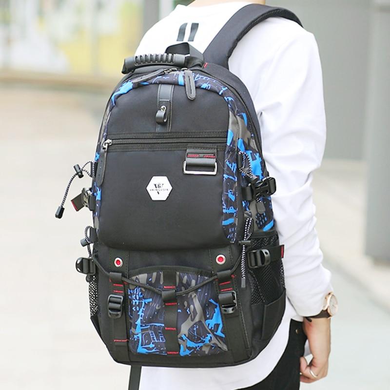 Vkingvsix Usb Waterproof Backpack Women Men 15.6 Inch Laptop Backpacks Travel Teen School Bags Boys Back Pack Mochila Bagback #5