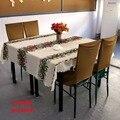 Toalhas de mesa toalhas de mesa toalha de mesa retangular branco da árvore de natal de ano novo decorações da festa de mesa de linho cobre.