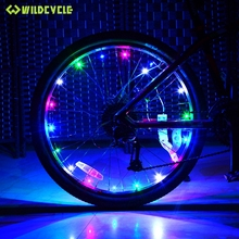 leadbike USB Rechargeable 20 Led Light For Bike Spokes Waterproof Hot Wheel MTB Cycling Lamp Bicycle Lights Bycicle Accessories