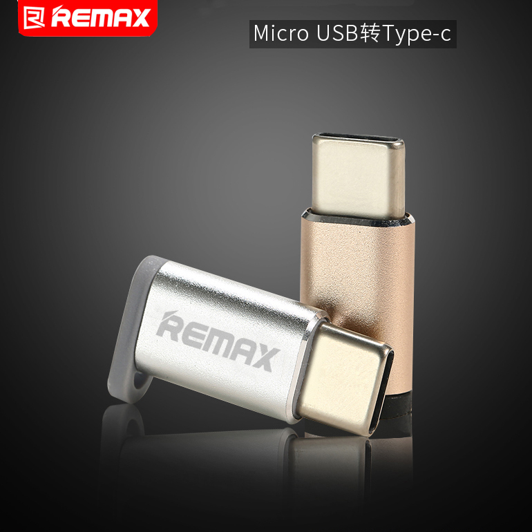 Remax OTG Mirco USB To Type C Data Transfer Adapter Compact Fast Transmission Double Side To Use Type C Converted To Micro USB
