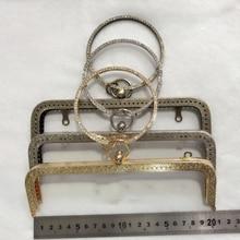 DIY женские портмоне сумка металлический каркас бронза серебро светло-золотистый цвет резной край Алмаз ручка 3 шт./лот