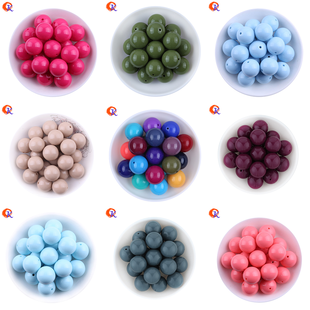 Fashion Beaded Jewelry 6-20MM 100Pcs/Lot Bubblegum Solid Beads Choose Color Chunky Acrylic Beads For Handmade Necklaces Jewelry