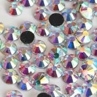 Brillante de Cristal AB SS16 4mm 1440 unids/bolsa caliente del arreglo DMC de cristal Flatback Loose Strass de diamantes de imitación para bolsas de Ropa Accesorios