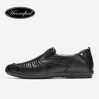 Leather Shoes Men Genuine Leather Casual Fashion Luxury Handmade Brand Design Moccasins Mens H682