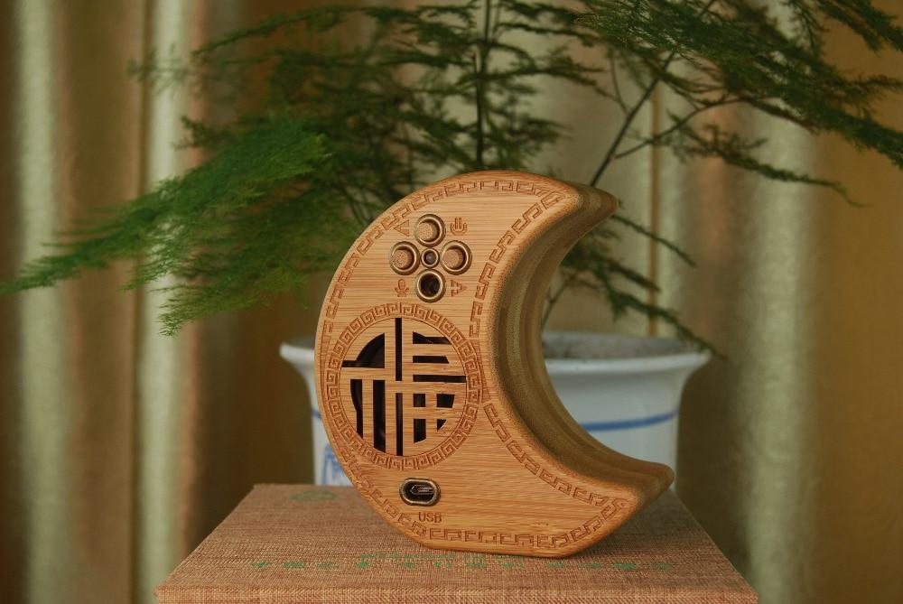 Huazhu Bamboo Speaker Bluetooth Portable Stereo Version, Speaker Maximum Power 5W Watt,  Handmade Crafts.