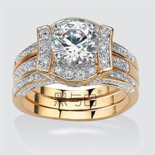 Victoria Wieck Majestic Sensation Gold AAA CZ Diamond 18k Yellow Gold Wedding Band Ring Set Free Shipping Wedding Jewelry