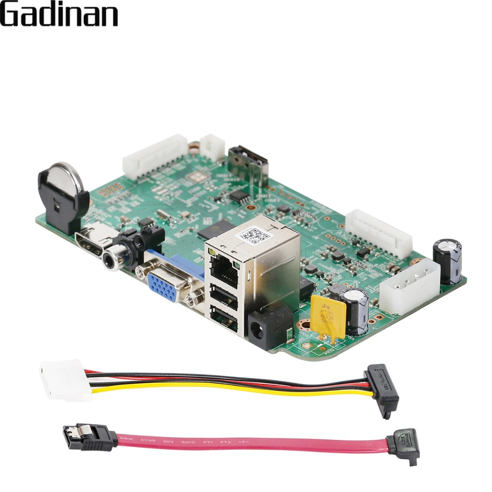 GADINAN 16CH 5MP 15fps / 8CH 5MP H.265 CCTV NVR Main Board ONVIF Video Recorder HI3536D Motion Detection Mobile Monitoring XMeye