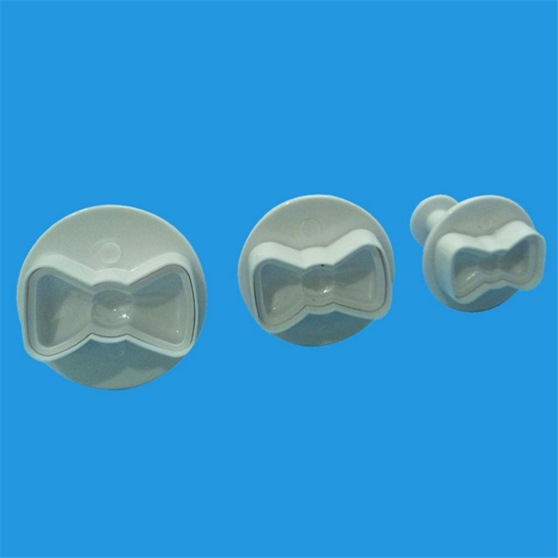 VOGVIGO 3pcs Biscuit DIY Mold cute bow Cookie Cutter Tools Cake Plunger Sugar Craft Confectionery Bakeware pastry Cake Tools in Baking Pastry Tools from Home Garden