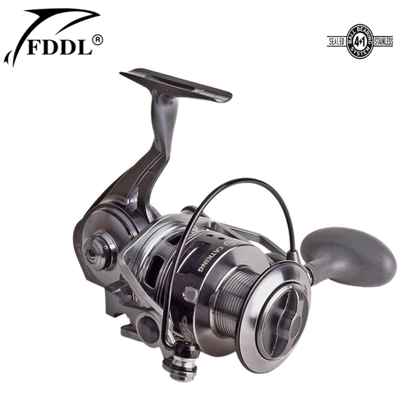 All Metal Profession Water Resistant Drag Spinning Fising Reel 15KG Max Drag 4+1BB Seawa ...