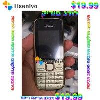 Hebrew Keyboard~Big Hot sale~Original Nokia C2 01 Unlocked Mobile Phone 2.0 3.2MP Bluetooth GSM/WCDMA 3G Phone Free Shipping