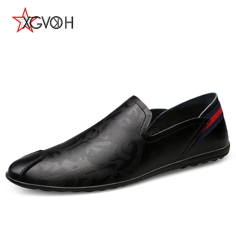 Men Shoes Leather Casual Italian Comfortable Moccasins Mens Autumn Antiskid Slip on Loafers Flats Driving Shoe Plus Size 38-46 new style men s loafers high quality cow leather man driving shoes casual moccasins male flats slip on shoe men plus size 38 47