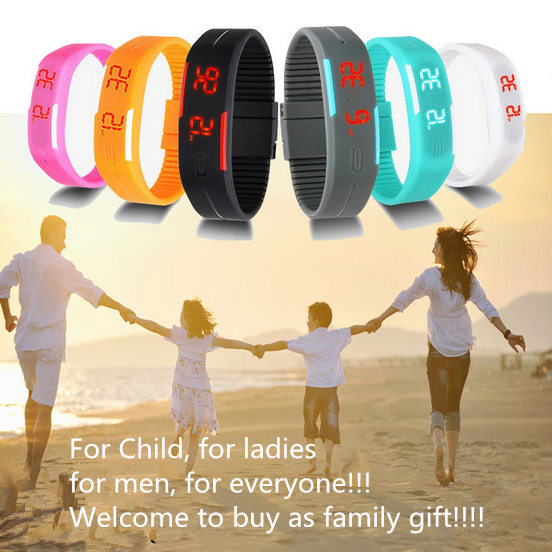 Candy Color Men's Women's Watch Rubber Led Kids Watches Date Bracelet Digital Sports Wristwatch For Student #2