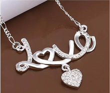 925 Silver Coronary heart love Necklace Wholesale Vogue Jewellery Free delivery , Manufacturing facility Value 925 sterling silver necklaces