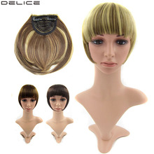 DELICE 20pcs/lot Women's Clip In Hair Bang Synthetic Straight Side Fringe Hair Neat Bangs