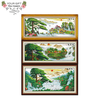 Joy Sunday F039(8)(9)(10) 14CT 11CT Counted and Stamped Home Decoration Guest greeting pine China Cross Stitch kits