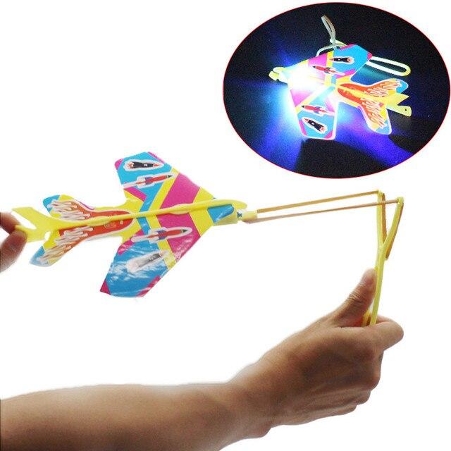 2018 DIY Flash Light Plane Ejection Cyclotron  Slingshot Aircraft For Kids Gift Toys brinquedos brinquedo menino magic tracks