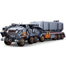 Sluban modelo militar bloco de construção a terra errante transporte pesado veículo caminhão 832 peças tijolos educativos brinquedo menino