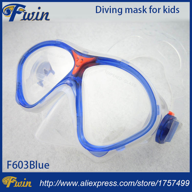 00428893c7a New design High end scuba diving equipment multicolors FDA silicone mask  for kids with cute smile face