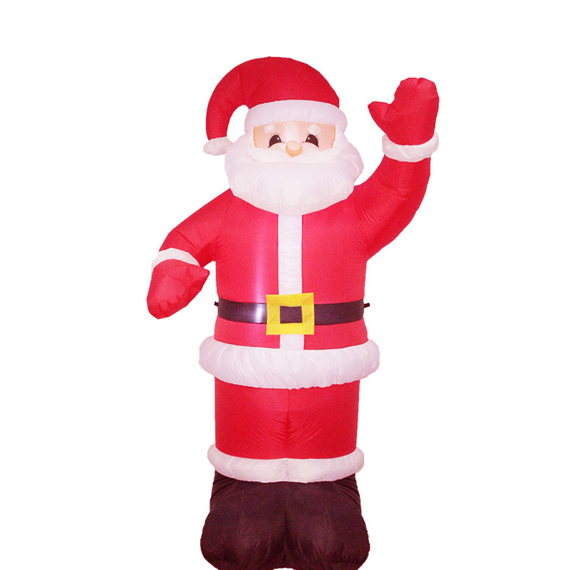 120cm/180cm/240cm Giant Santa Claus LED Lighted Inflatable Toys Christmas Props Birthday Wedding Party Toys Home Yard Decoration home decoration lighted inflatable jellyfish