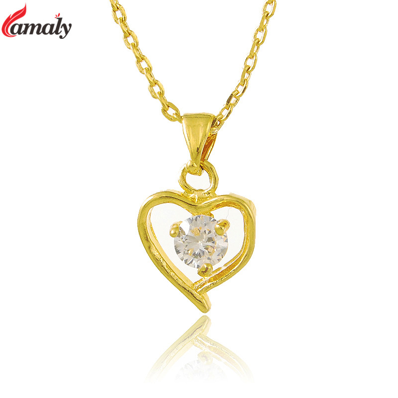 Beautiful Women\'s Gold Chain Maxi Necklaces Pure Gold Color ...