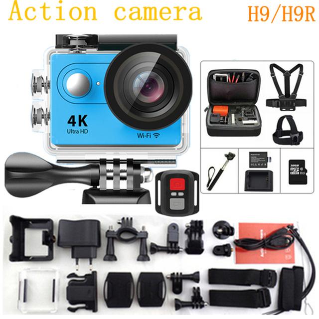 """Câmera ação Original H9/H9R wifi Ultra 4 K HD 1080 P/60fps 720 P 120FPS 2.0 """"LCD 170D lente ir pro estilo à prova d' água câmera esporte"""