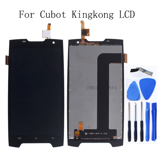"""5.0 """"pour Cubot King Kong LCD affichage + écran tactile numériseur remplacement pour Cubot King kong écran lcd kit de réparation + outils"""