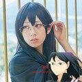 Animation Haikyuu !! Kiyoko Shimizu short hair black hair high quality free shipping + caps can blanching