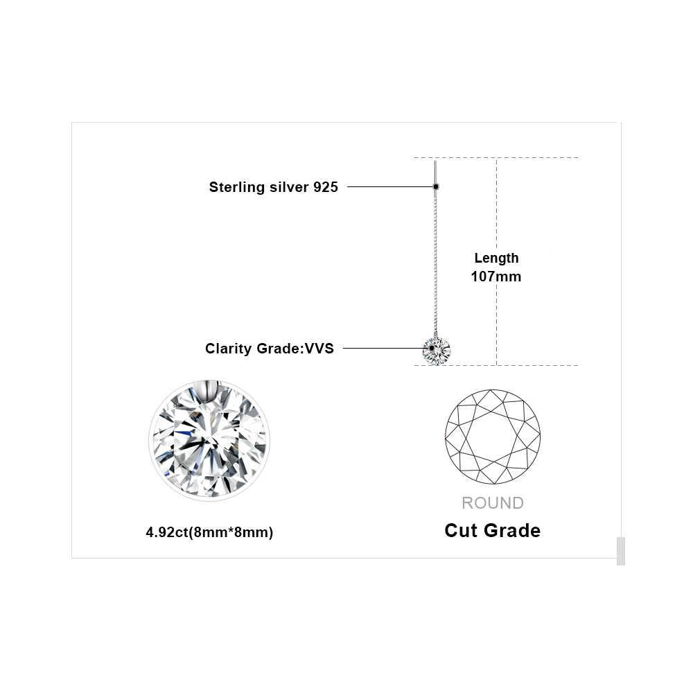 Jewelrypalace Nữ Bạc 925 Đính Đá Cubic Zirconia CZ Dài Thả Bông Tai Nữ Bông Tai Hàn Quốc 2019 Earings Trang Sức Thời Trang