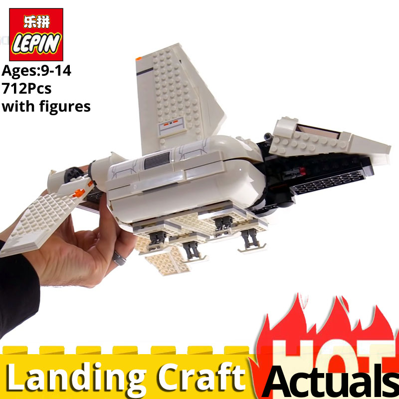 Lepin Star Wars 05147 legoinglys War 75221 Imperial Landing Craft Building Blocks Bricks Kits Toys for Children airplane action