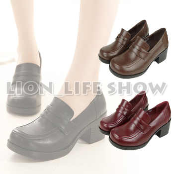 3 colors Women Japanese School Uniform Student Leather Black High Heel JK Shoes Cosplay - DISCOUNT ITEM  21% OFF All Category