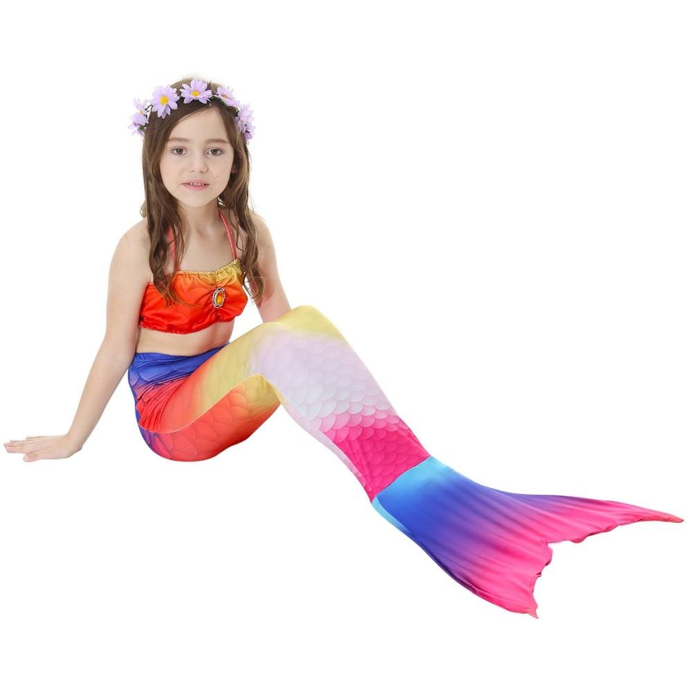 Kids Girls Mermaid Tails Costume Children Mermaid Tail