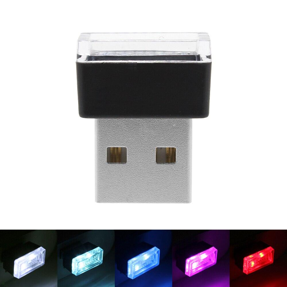1pcs 5 Colors Mini USB LED Car Atmosphere Lamp DC 5V Auto Interior Decoration Night Lights Blue/White/Red/Pink/Crystal sony беспроводные наушники