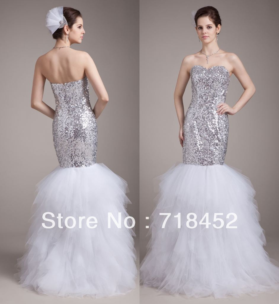 sexy bling bling 2013 mermaid wedding dress sweetheart