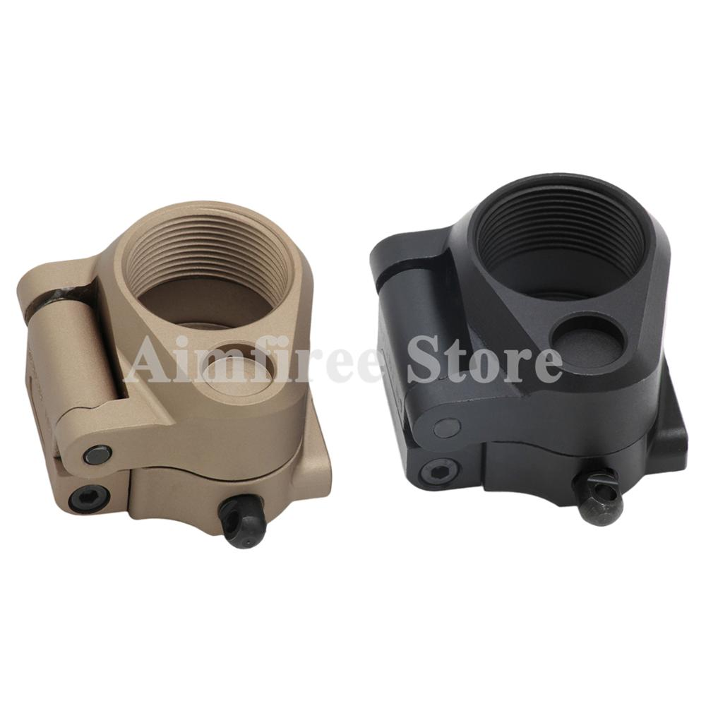AR Folding Stock Adapter For Airsoft M16/M4 SR25 Series GBB AEG Rifle Series Hunting Accessories image