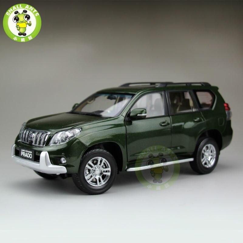 1:18 весы Toyota Land Cruiser Prado литья под давлением внедорожник модель автомобиля игрушечные лошадки для подарки коллекция хобби Зеленый