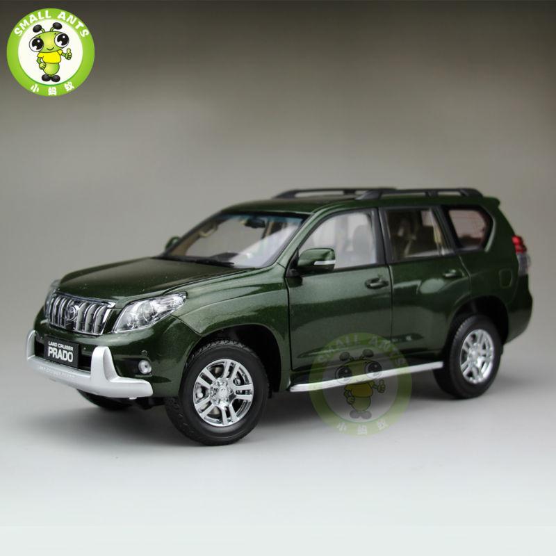 Oyuncaklar ve Hobi Ürünleri'ten Pres Döküm ve Oyuncak Araçlar'de 1:18 ölçekli Land Cruiser Prado döküm SUV araba modeli oyuncaklar koleksiyonu için hobi yeşil'da  Grup 1