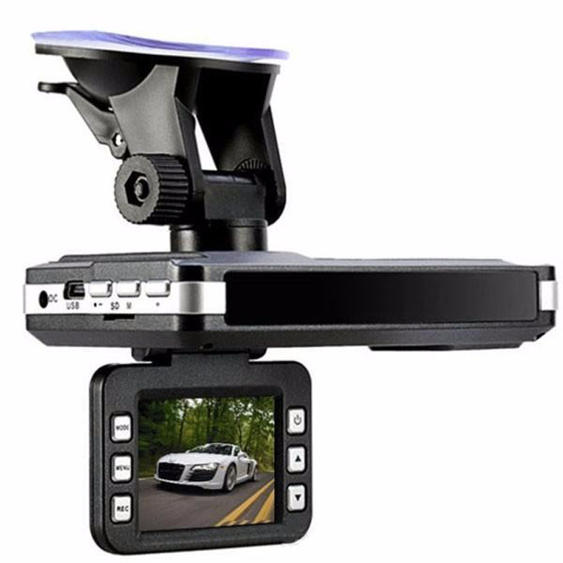 (Russian Voice) Multi-Function Car DVR Camera Radar Detector 2.0 Inch LCD 140 Degree HD 1280*720 Built-in GPS Logger Dash Cam