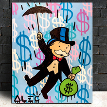 Alec Monopoly Umbrella Carry Away Canvas Painting Print Living Room Home Decor Modern Wall Art Oil Poster