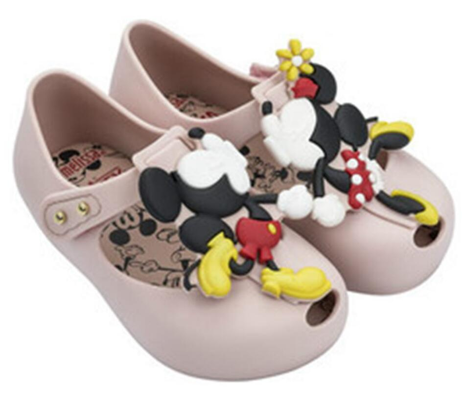 Melissa Summer Mini Twins Mouse Animal Pattern Shoes Jelly Shoe Sandals Girl Non-slip Kids Sandal Toddler Sandals