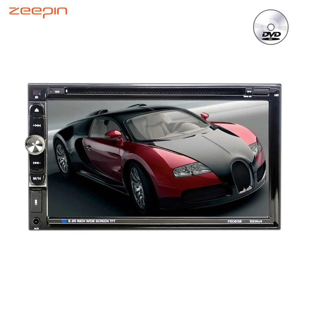 Zeepin 2 Din Car Radio Mp5 Player Stereo Auto DVD Player 6.95 Inch Touch Screen MP3 CD Audio Bluetooth USB FM Radio Autoradio professional 6 2 inch 6201a audio dvd sb sd bluetooth 2 din car cd player with automatic memory play car dvd player