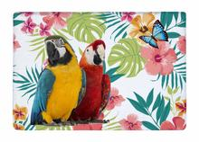 Floor Mat Tropical Watercolor Flower Scarlet Macaw Print Non-slip Rugs Carpets alfombra For Indoor Outdoor living room